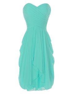 ccb15bebc7 Onlinedress Women's Ruffles Bridesmaid Dress Short Party Gown Size 12  Tiffany Blue Tiffany Blue Bridesmaids,