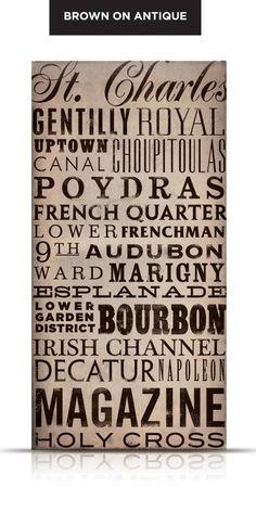 #NOLA streets typography