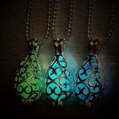 Luminous LED hollow shape of water droplets necklace sweater chain necklace…