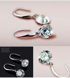 60% off Dangle Earring 925 Sterling Silver Wedding Earrings for Women with Stones Earings Fashion Jewelry Wholesale Ulove Y047