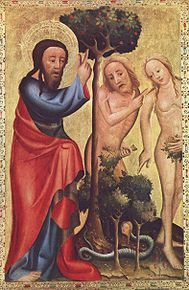 God in the person of the Son confronts Adam and Eve. Catholicism is not cozy, because it confronts us in our complacency.
