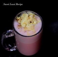 Sweet lassi recipe here is made in hyderabadi style and hyderabadi lassi is a very popular lassi in summer season in Hyderabad. #drinks #beverages