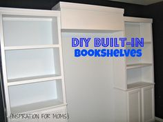 Learn how to build your own built-in bookshelves | www.inspirationfo... #buildyourownbookcases #bookcases