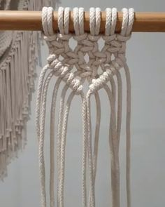 diy macramé, tuto rideau not in English but good demosHow to Tie Macrame KnotsMacrame technique using tshirt strips.Wall panels handmade macramé tNew Best Creative Ideas for Making Painted Rock Painting reasons you should be scrapbooking che Macrame Wall Hanging Patterns, Macrame Patterns, Art Macramé, Macrame Owl, Fleurs Diy, Macrame Curtain, Macrame Design, Macrame Projects, Knots