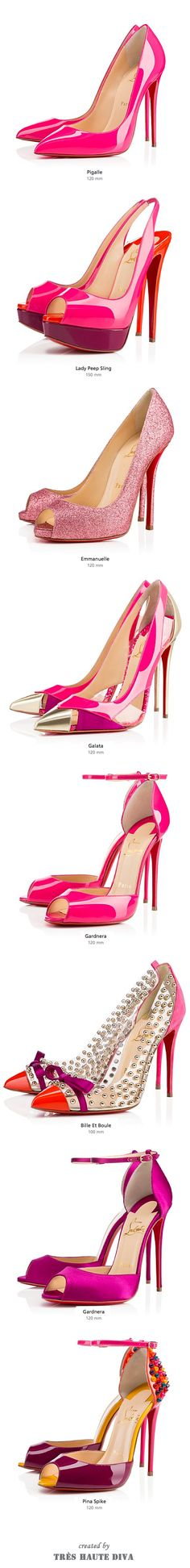 #Christian Louboutin Pinks, Fall 2014- ♔LadyLuxury♔