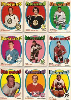 64-72 Ken Schinkel, Derek Sanderson, Barclay Plager, Paul Henderson, Jude Drouin, Keith Magnuson, Ron Harris, Jacques Lemaire, Doug Favell