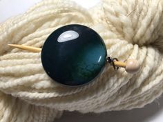 Dragon Agate Shawl Pin ~ Blue ~ Wire Wrapped