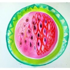 fruit prints - watermelon fruit art print - Available online at everythingbegins.com