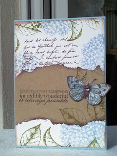 Newest No Cost Scrapbooking Paper vintage Thoughts Scrapbooking paper types the history for each and every site within your scrapbook. Pretty Cards, Cute Cards, Diy Cards, Butterfly Cards, Flower Cards, Tarjetas Diy, Karten Diy, Sympathy Cards, Paper Cards