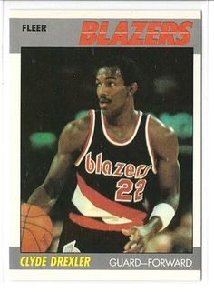 1987-88 FLEER CLYDE DREXLER CARD #30 OF 132 in Sports Mem, Cards & Fan Shop, Cards, Basketball | eBay