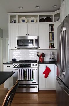 Lovely Kitchen Cabinets with Rounded Corners