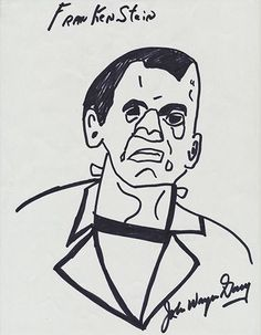 Frankenstein art by serial killer John Wayne Gacy John Wayne Gacy Art, Frankenstein Art, Charles Manson, Frankenstein's Monster, Judy Garland, Michael Fassbender, Serial Killers, True Crime, American Actors