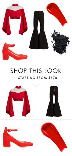 """""""Blaze GP Spread All the Love Outfit"""" by pgrace348 on Polyvore featuring Balmain, E L L E R Y, Gianvito Rossi, NARS Cosmetics and Christian Dior"""