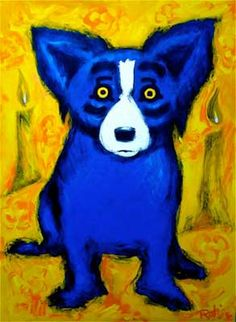 LOVE Blue Dog
