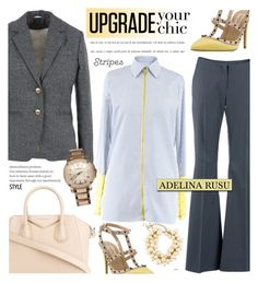 """""""Adelina Rusu 5"""" by cly88 ❤ liked on Polyvore featuring Givenchy, Valentino, Chanel and Burberry"""