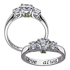 Shop Sterling Silver Couples Birthstone & CZ Promise Ring at HSN mobile