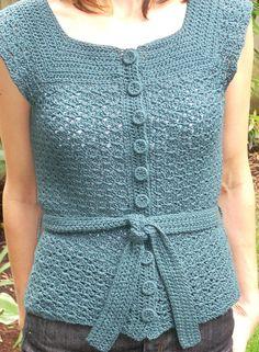 Top Down Crochet Vest