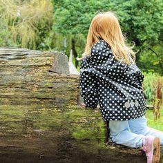 Kozi Kidz Black Dot Fleece Lined Coat