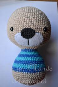 Es un Mundo Amigurumi: Patrón Gratis... Osito con Polera a Rayas Crochet Teddy, Crochet Toys, Knit Crochet, Filet Crochet, Diy And Crafts, Dolls, Knitting, Crochet Cats, Crochet Octopus