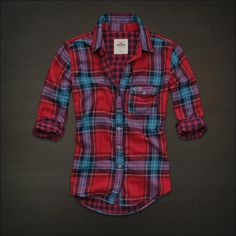red plaid shirt for women - Google Search