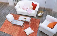 Reko Orange Rug, a plain hand-woven viscose & cotton modern rug http://www.therugswarehouse.co.uk/plain-rugs/reko-orange-rug.html … #modernrugs #rugs