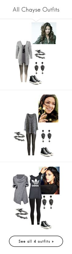 """All Chayse Outfits"" by jakela778 on Polyvore featuring Pepper & Mayne, Converse, Sans Souci, Tarina Tarantino, H&M, adidas and No Ka'Oi"