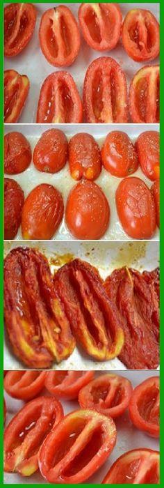 TOMATES SECOS caseros aprende hacer. #tomate #tomateseco #tomatoes #salsa #ensaladas #tips #pain #bread #breadrecipes #パン #хлеб #brot #pane #crema #relleno #losmejores #cremas #rellenos #cakes #pan #panfrances #panettone #panes #pantone #pan #recetas #recipe #casero #torta #tartas #pastel #nestlecocina #bizcocho #bizcochuelo #tasty #cocina #chocolate Si te gusta dinos HOLA y dale a Me Gusta MIREN Veggie Recipes, Mexican Food Recipes, Vegetarian Recipes, Cooking Recipes, Healthy Recipes, Deli Food, Good Food, Yummy Food, Dehydrated Food