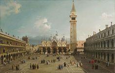 La place Saint-Marc (vers 1730, Fogg Art Museum)  Giovanni Antonio Canal