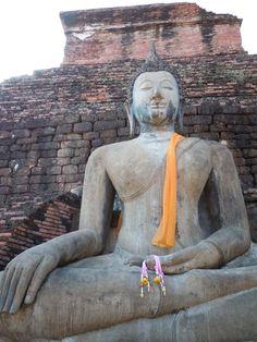 The grand Buddha in #Sukhothai historical park, #Thailand