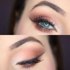 Mleczno - Brązowe Smokey Eye | Ela Lis Make-Up
