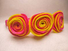 Lollipop swirl headband by SewVivid on Etsy, £5.00