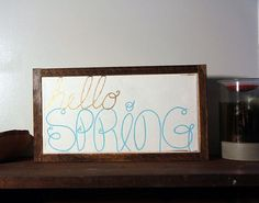 Hello Spring by SimpleRemnant on Etsy