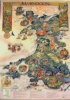I found a slightly better version of this illustrated map of Wales. I wish I could see the details of the illustration. It looks very cool.