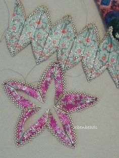 Brocade Rick-rack Cuff Tutorial by KBenBeads on Etsy