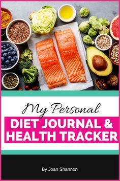 12 Week printable Diet & Food journal used as a diary to track your weight loss journey.  Keep up your motivation by counting calories & macros for a balanced diet.