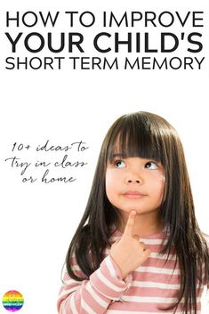 How To Help Improve Children's Short Term Memory - why it's important and simple games to play in class or at home to help build working memory Parenting Classes, Kids And Parenting, Parenting Workshop, Parenting Tips, Short Term Memory, Working Memory, Memory Games For Kids, Kids Learning Activities, Educational Activities