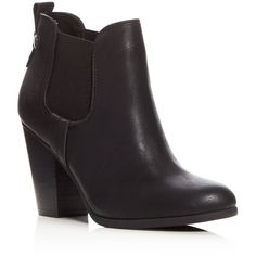 Carlos by Carlos Santana Devon Ankle Booties - Compare at $79 ($45) found on Polyvore featuring women's fashion, shoes, boots, ankle booties, black, black booties, carlos by carlos santana boots, black ankle booties, carlos by carlos santana and black boots