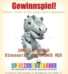 #Gewinnspiel  auf unserer Facebook-Seite!  Schnell teilnehmen und mit viel Glück den #Dinosaurier  #IndominusRex  aus #JurassicWorld  #gewinnen !