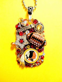 Washington Redskins Dog Tag Pendant Necklace Number by BradosBling, $39.99. www.bradosbling.com