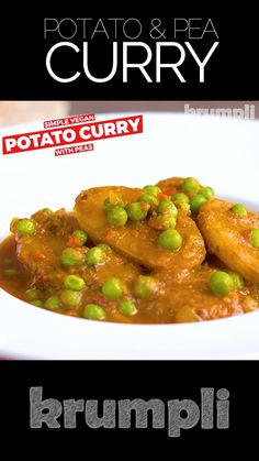 This simple potato curry with peas or aloo matar is a simple but utterly delicious vegan meal featuring a little heat & plenty of fenugreek. Best Vegetarian Recipes, Spicy Recipes, Curry Recipes, Healthy Breakfast Recipes, Veggie Recipes, Indian Food Recipes, Dinner Recipes, Cooking Recipes, Pea Recipes