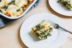 This three-cheese lasagna with pesto and greens is a great way to use up some summer produce. It keeps well and makes a great meal for the week ahead.