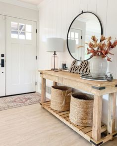 Front Entryway Decor, Fall Entryway, Entryway Tables, Condo Decorating, Living Room Inspiration, Weekend Is Over, Apartment Living, Home Improvement, Sweet Home