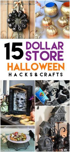 These 15 Epic Dollar Store Halloween Hacks are so fun to create! They will make your holiday so much easier, and keep you on (or under) budget! Halloween Hacks, Easy Halloween Crafts, Halloween Party Decor, Fall Halloween, Halloween 2018, Halloween Projects, Halloween Recipe, Women Halloween, Halloween Makeup