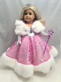 Princesse en argent et framboise American Girl taille par GSRdolls