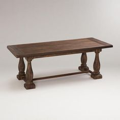 Rustic Java Greyson Fixed Dining Table | World Market