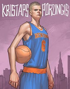 Kristaps Porzingis New York Giant Illustration
