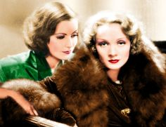 Greta Garbo & Marlene Dietrich <3 1920's.  Officially, they only met once.  Off the record, they supposedly had a torrid love affair 15 years prior to that one-time meeting.  Google it.