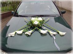 eleganter, moderner  Autoschmuck, Hochzeit,, Calla, groß
