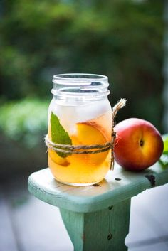 A simple recipe for Peach Sangria ...a refreshing summer drink with wine and Elder flower liquor ( or syrup)  that can be made ahead. Delicious!   www.feastingathome.com