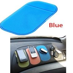 Car Gadgets Practical Anti-slip Magic Sticky Mat at Car for Devices-Blue * Check this awesome product by going to the link at the image. (This is an affiliate link) Car Gadgets, Gadgets And Gizmos, Blue Check, Cell Phone Accessories, Geek Stuff, Magic, Personalized Items, Electronics, Digital
